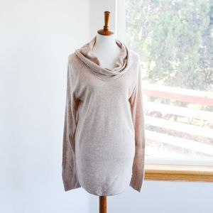 Calvin Klein Shawl Collar Tunic Sweater Sz L EUC